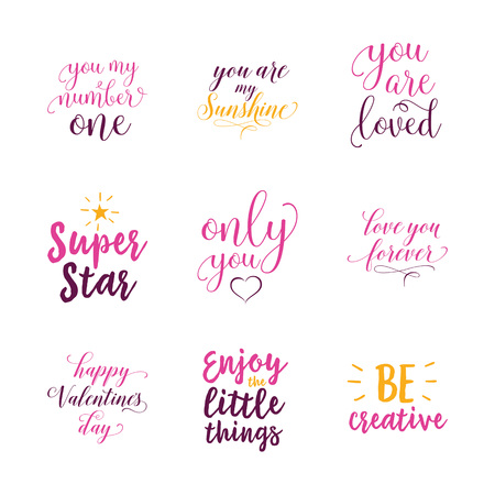 Only you lettering set