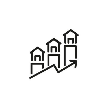 Real estate forecast icon 일러스트