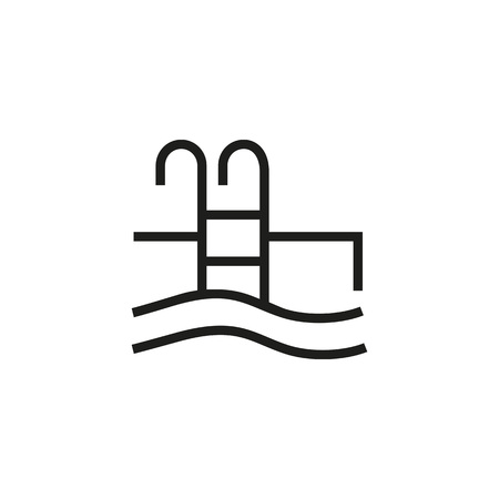 Swimming pool icon Ilustração