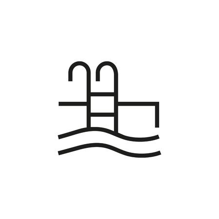 Swimming pool icon Stock Illustratie