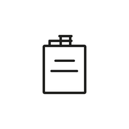 Hip Flask Line Icon Çizim