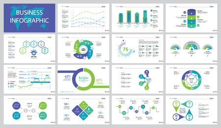 Economics project slide templates design set illustration. Illustration