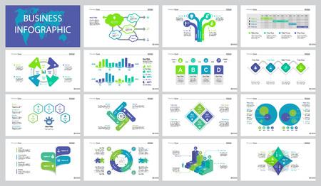 Fifteen Marketing Slide Templates Set