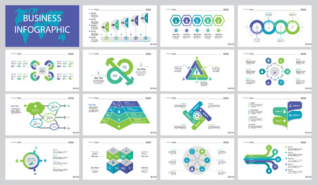 Infographic design set can be used for workflow layout, presentation, annual report, web design. Business improvement concept with pie chart and process diagram including comparison chart Illustration