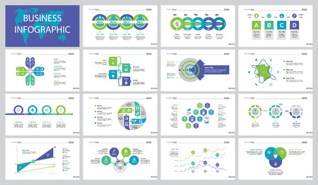Infographic design set can be used for workflow layout, presentation, annual report. Business training concept with step and option charts, percentage diagram, line chart and area chart