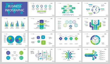 Fifteen Workflow Slide Templates Set