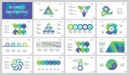 Marketing Project Slide Templates Set Illustration