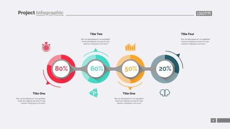 Business goal achievement slide template Illusztráció