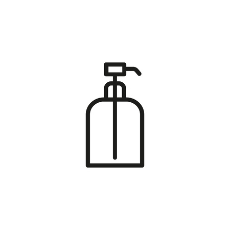 Eau de cologne bottle line icon Illustration