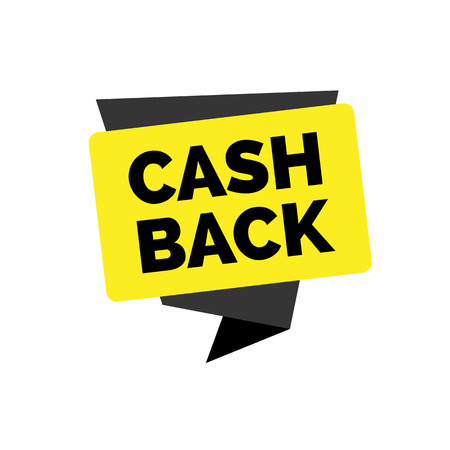 Cash back lettering on yellow background Illustration