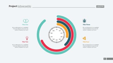Informative info-graphics slide template design illustration. Ilustração