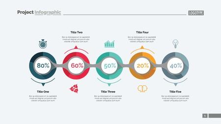 Marketing strategy slide template design illustration.