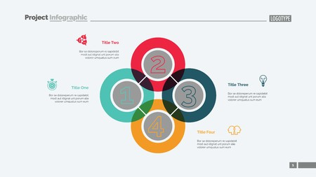 Quadruple Intersect Slide Template Ilustração