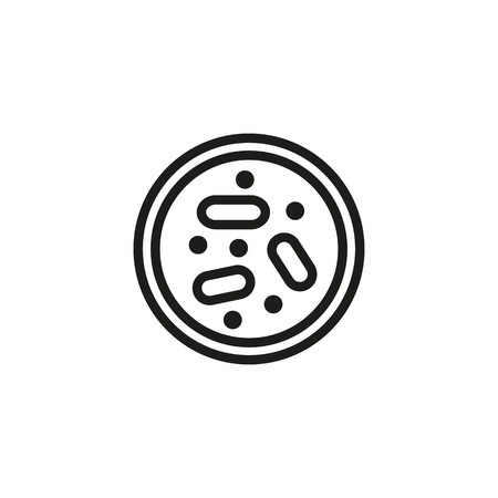 Growing bacteria in petri dish icon