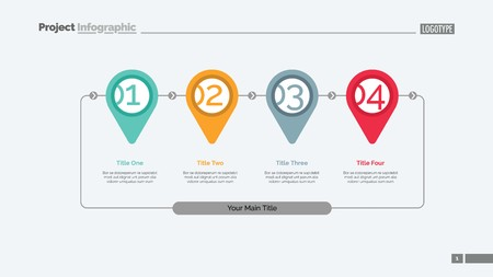Step by step infographics slide template