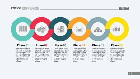 Six Phases Timeline Slide Template