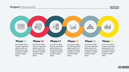 Six Phases Timeline Slide Template