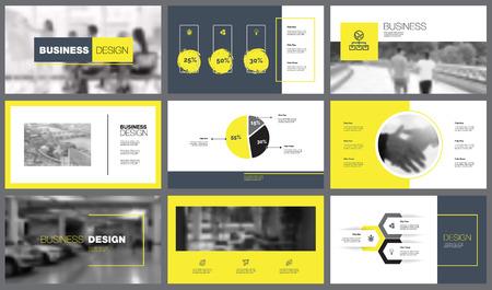 Nine Financial Analysis Slide Templates Set