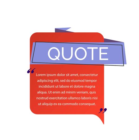 Quote Lettering and Speech Bubble 向量圖像