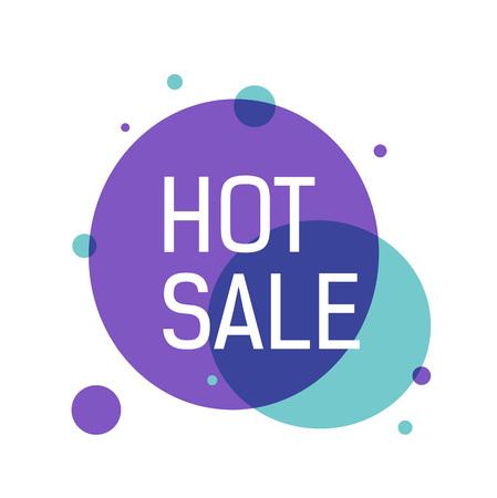 Hot Sale Lettering on Violet Circle Illustration