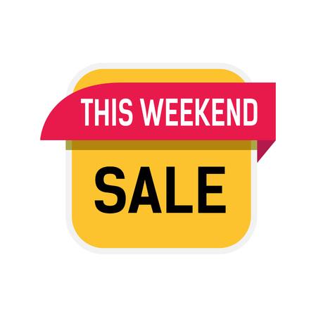 This Weekend Sale Lettering Stock Illustratie