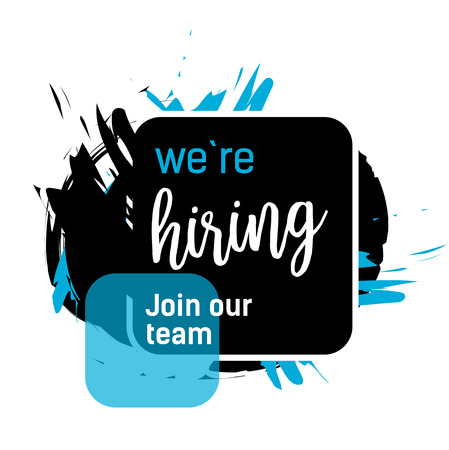 We Are Hiring Lettering in Rectangle