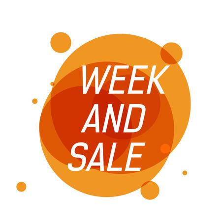 Week and Sale Lettering on Orange Circles