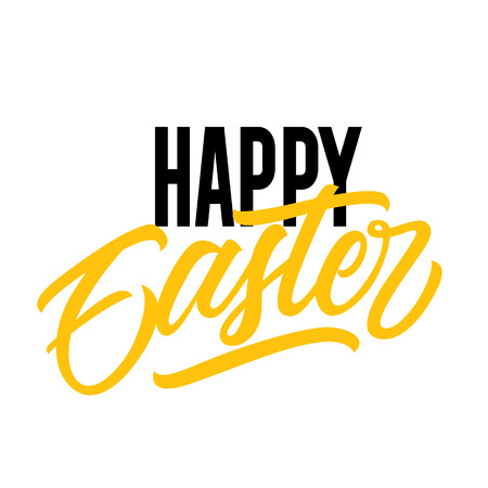 Decorative Happy Easter Lettering