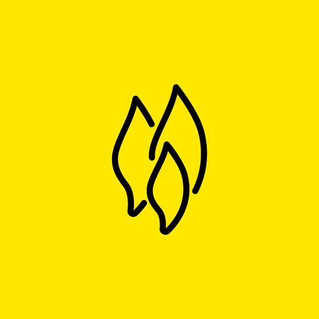 Flame shapes line icon 일러스트