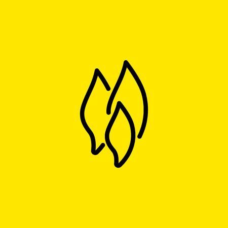 Flame shapes line icon Illustration