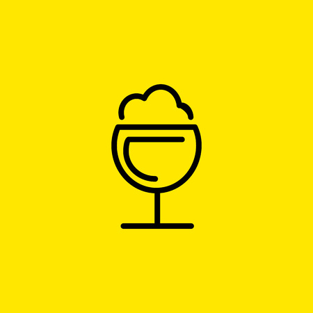 Frothy drink icon vector illustration