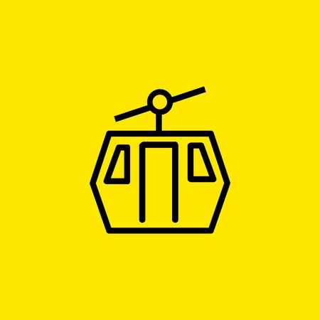 Funicular Line Icon 向量圖像