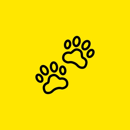 Paw prints icon Illustration