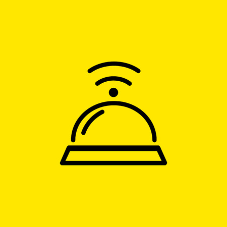 Service bell icon Vectores