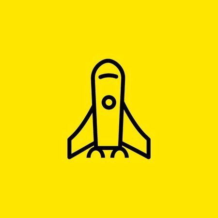 Rocket launch icon Illustration