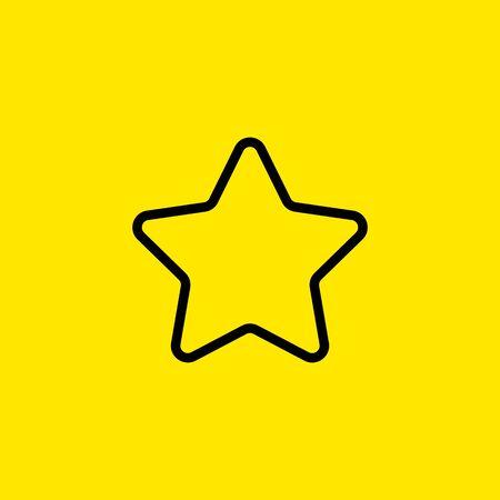 Star line icon 向量圖像