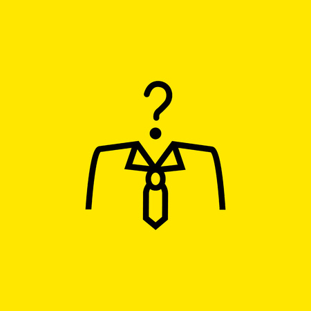 Unknown businessman icon Illustration