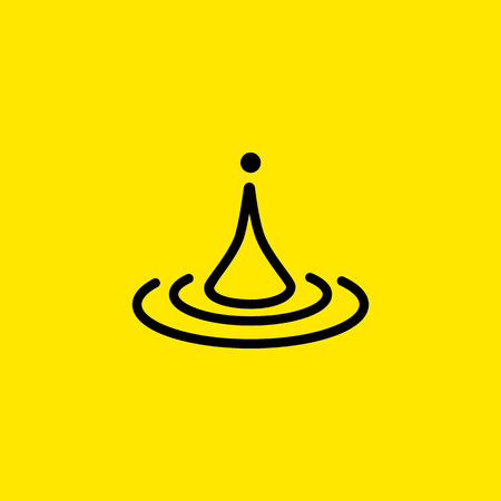 Water drop line icon