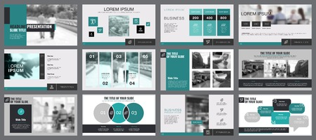 Business Diagrams Slide Templates Set