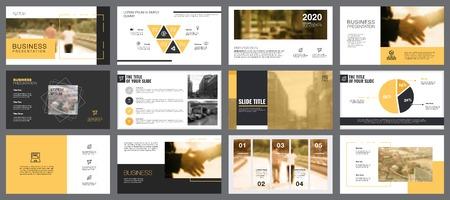 Consulting Charts Slide Templates Set Ilustracja