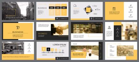 Twelve Marketing Slide Templates Set