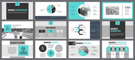 Twelve Statistics Slide Templates Set