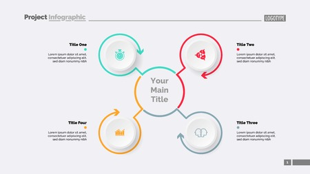 Mindmap with Four Elements Slide Template