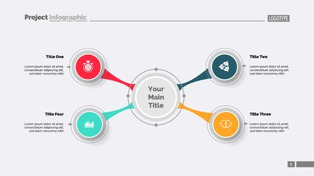 Four Option Diagram Template