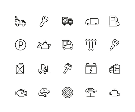 A car service icon set.