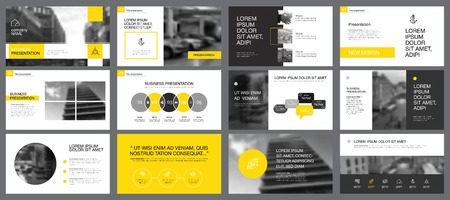 Twelve Accounting Slide Templates Set Stock Illustratie