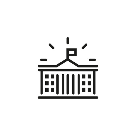 Courthouse line icon