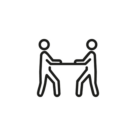 Face to face interrogation icon.  イラスト・ベクター素材