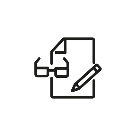 Document edit line icon.
