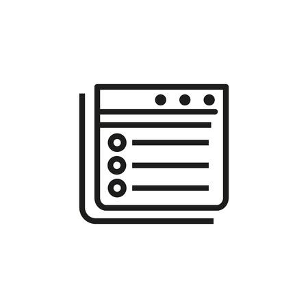 Computer file icon. Illustration